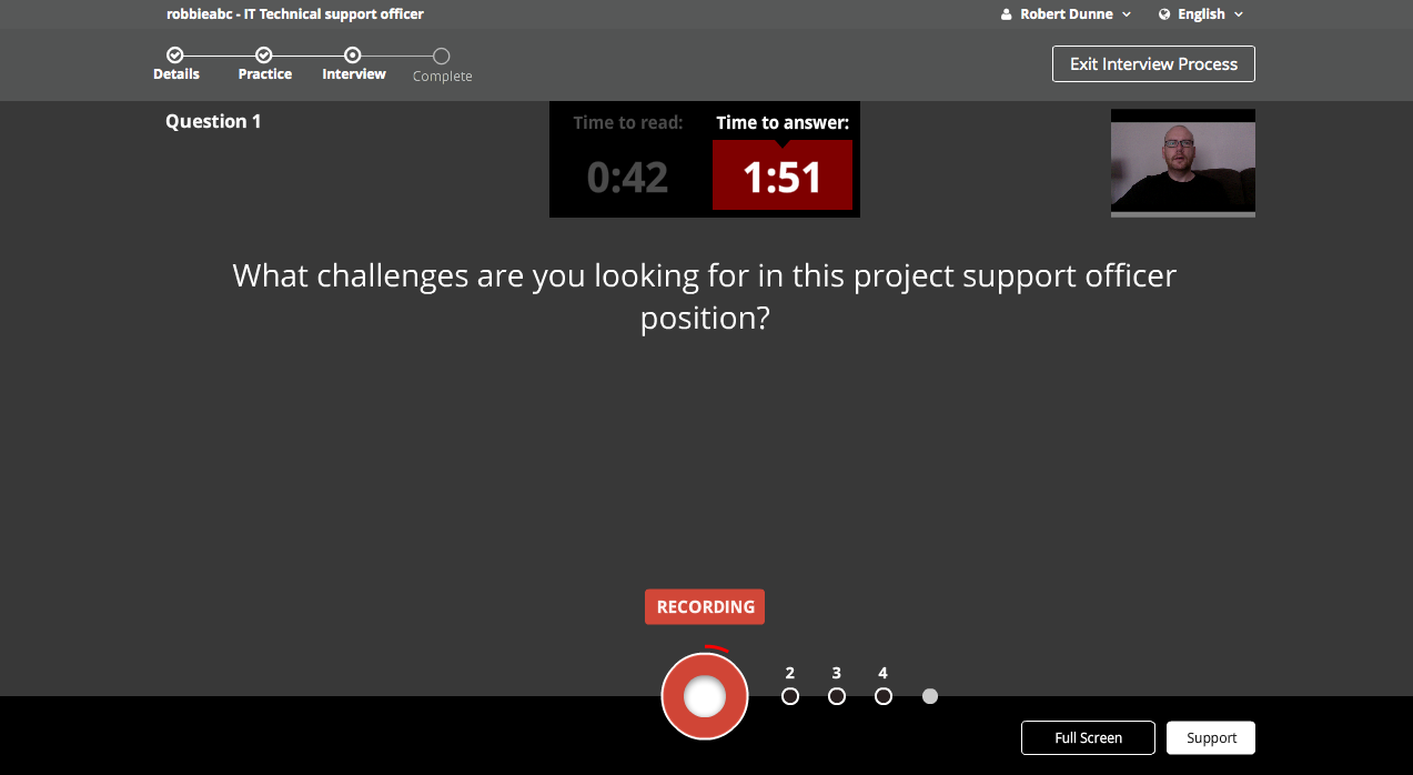 can i start stop recording or re answer when i want sonru support each question will appear automatically and you do not see all the questions in advance the interview will continue for the time given by the interviewer